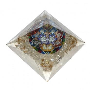 Crystal Quartz Orgonite Pyramid