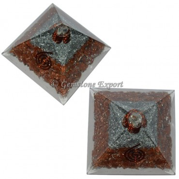 Goldstone Orgonite Pyramid