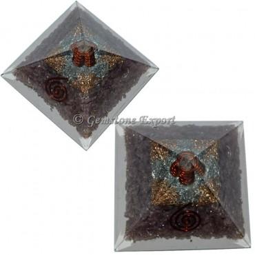 Lepidolite Orgonite Pyramid