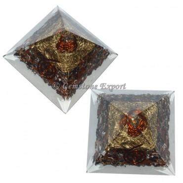 Mahogany Obsidian Orgonite Pyramid