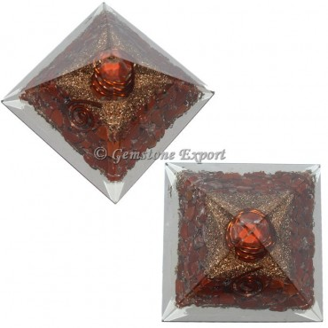 Red Jasper Orgonite Pyramid