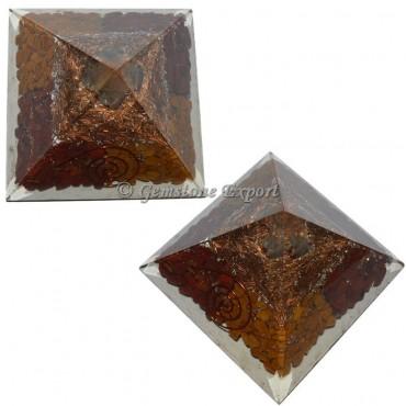 Red And Yellow Jasper Orgonite Pyramid