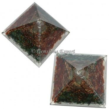 Healing Stones Orgonite Pyramid