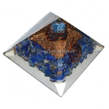 Lapis Lazuli With Point Orgonite Pyramid