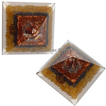 Assorted Stones Orgonite Pyramid