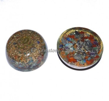7 Chakra With Om Orgonite Dome