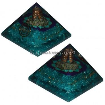 Crystal Aqva Orgonite Pyramid