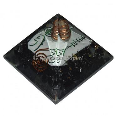 Black Tourmaline Reiki Symbols Orgonite Pyramid