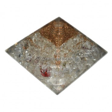 Crystal Quartz Orgonite Pyramids