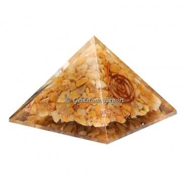Yellow Jasper Orgonite Pyramid