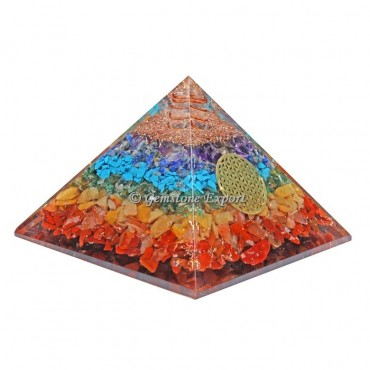 Seven Chakra Orgonite Pyramid