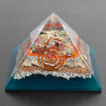Multi Tourmaline With Howlite Orgonite Pyramids