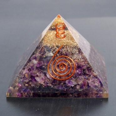 Amethyst  Orgonite Pyramids