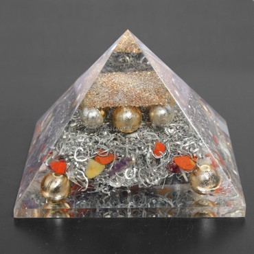 Mix  Stone Orgonite Pyramids