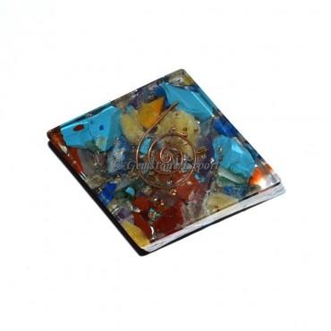 Orgone Chakra Stone Flat Square Paper Holder