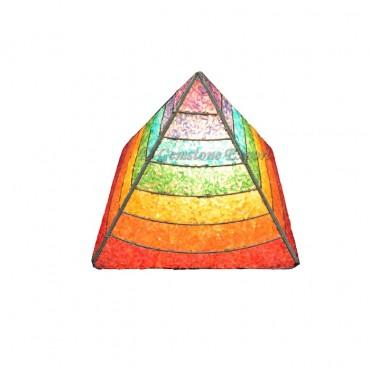 Orgone Chakra Layer Pyramids Lamps