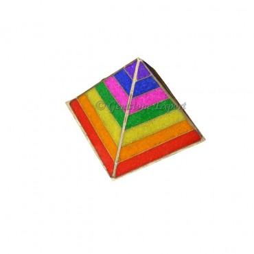 Orgone Small Chips Chakra Pyramids Lamp