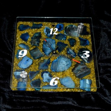 Orgone Clock with Agate Stone