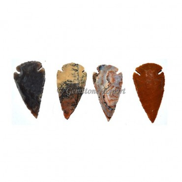 Small Agate Arrowheads Polished