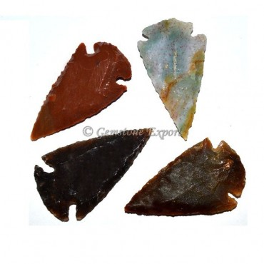 Polished Agate Arrowheads