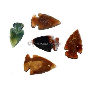 Assorted Stone Polished Agate Arrowheads