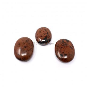 Mahogony Obsidian Palm Stones