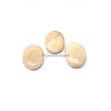 Cream Moonstone Palm Stones