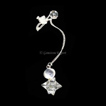 Crystal Quartz Merkaba Star Pendulums