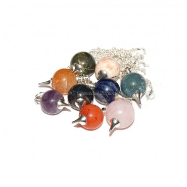 Mix Gemstone Ball Pendulums