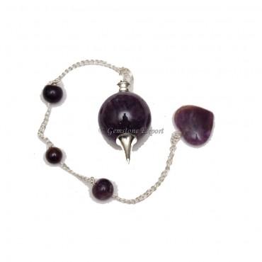 Amethyst Healing Ball Pendulums