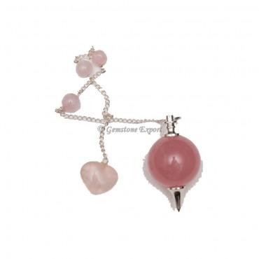 Rose Quartz Healing Ball Pendulums