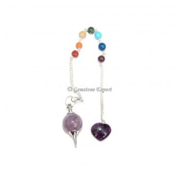 Amethyst Chakra Ball Pendulums