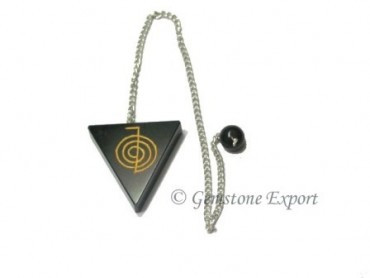 Black Agate Choko Reiki Pendulums