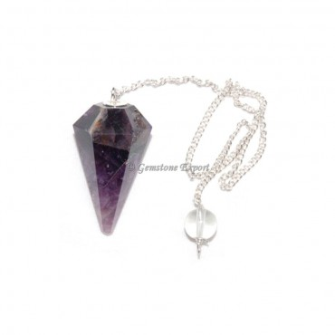 Amethyst 6 Faceted Pendulums