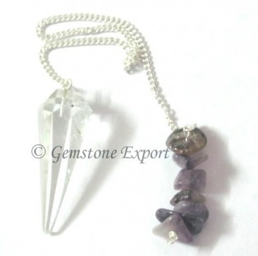 Crystal Quartz Chips Pendulum