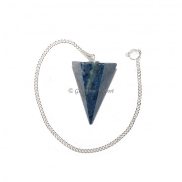 Sodalite 6 Faceted Cone Pendulums