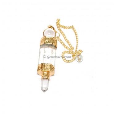 Crystal Quartz Golden  3 Pcs Pendulums