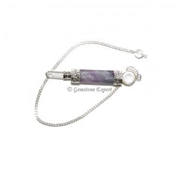 Amethyst 3 Pcs Pendulums