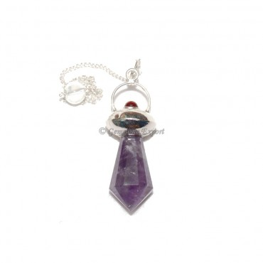 Amethyst Garnet Pendulums