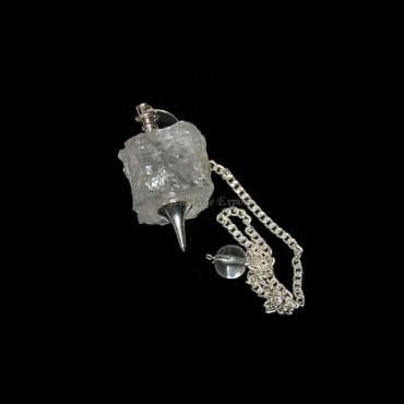 Crystal Quartz Rough Pendulums