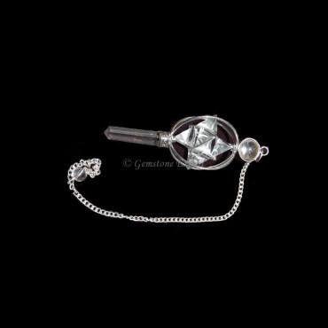 Crystal Quartz 3 Pcs Merkaba Pendulums