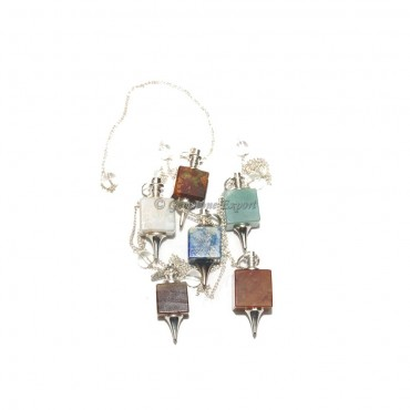 Mix Gemstone Squre Pendulums