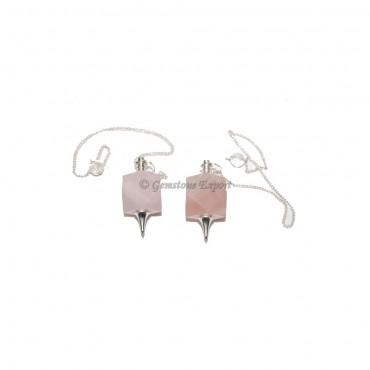 Rose Quartz Square Pendulums
