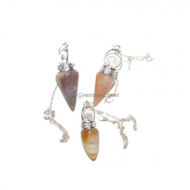 Healing Mix Gemstone Pendulums