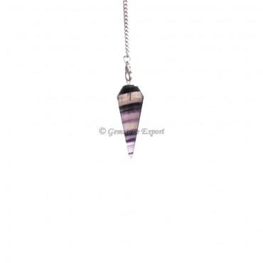 Multi Flourite 12 Faceted Pendulums