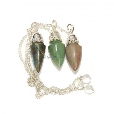 Mix Gemstone Tope Pendulums