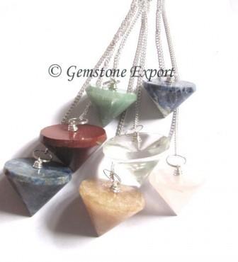 Mix Gemstone Cone Pendulums