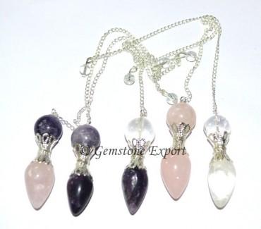 Mix Gemstone Pendulums