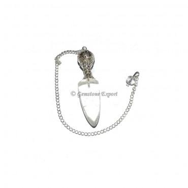 Crystal Quartz Fashion Cap Pendulums