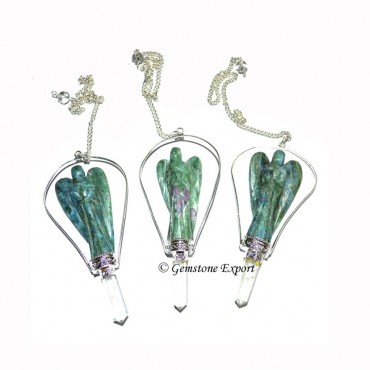 Ruby Zoisite Angels Pendulums